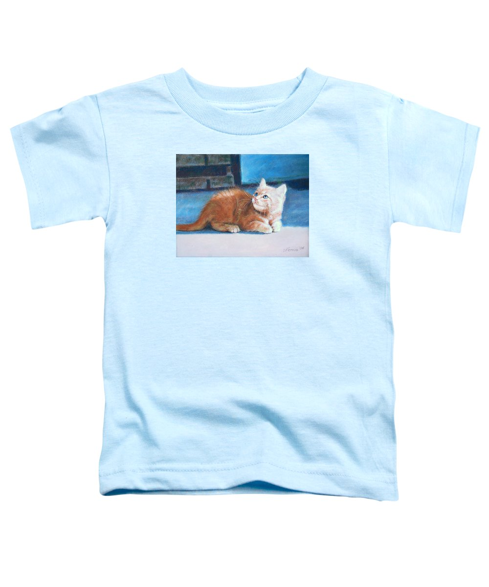 Cats Toddler T-Shirt featuring the painting Kitten by Iliyan Bozhanov