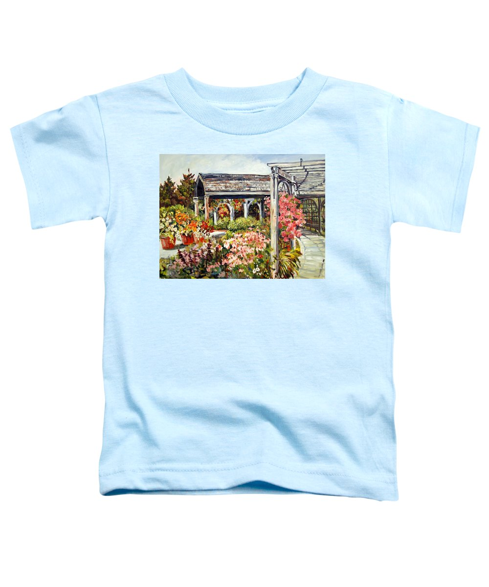 Landscape Toddler T-Shirt featuring the painting Klehm Arboretum I by Alexandra Maria Ethlyn Cheshire