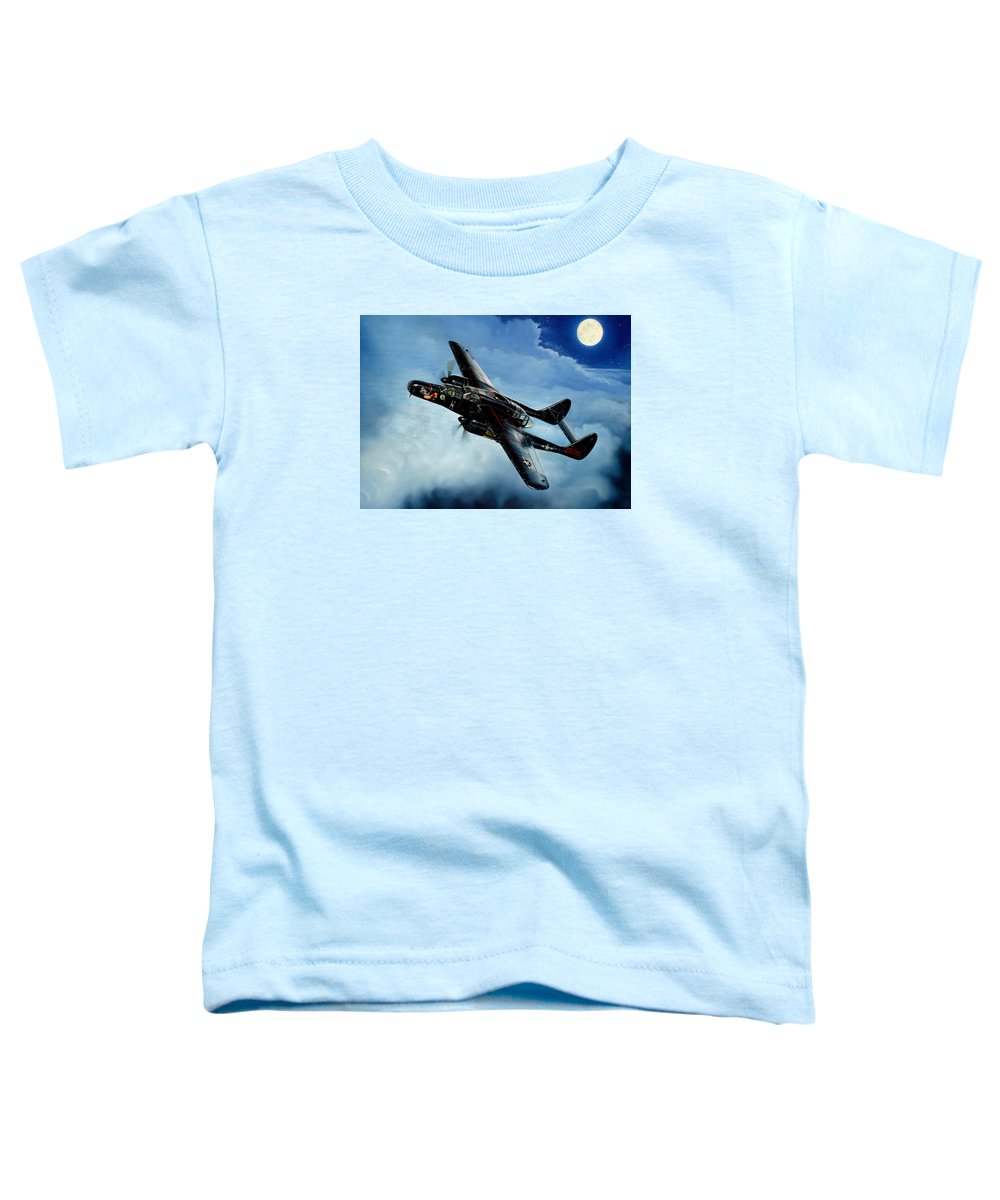 Military Toddler T-Shirt featuring the painting Lady In The Dark by Marc Stewart