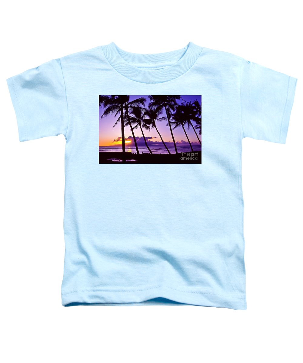 Landscapes Toddler T-Shirt featuring the photograph Lanai Sunset by Jim Cazel