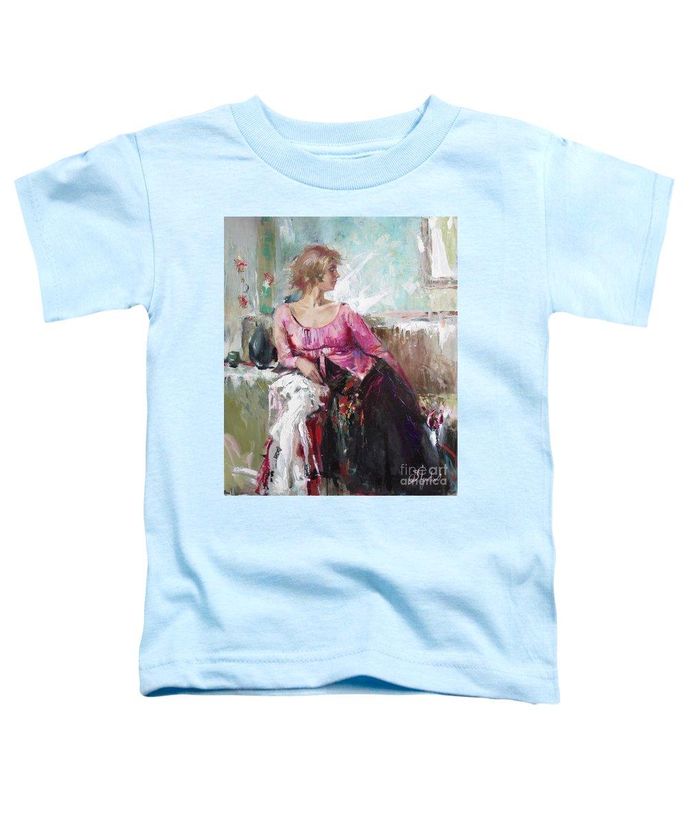 Ignatenko Toddler T-Shirt featuring the painting Lera by Sergey Ignatenko