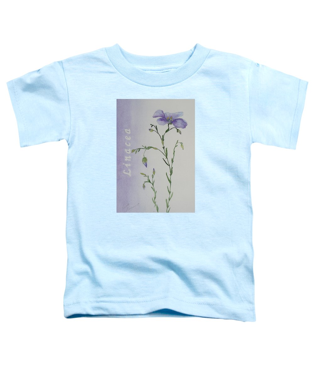 Flower Toddler T-Shirt featuring the painting Linacea by Ruth Kamenev