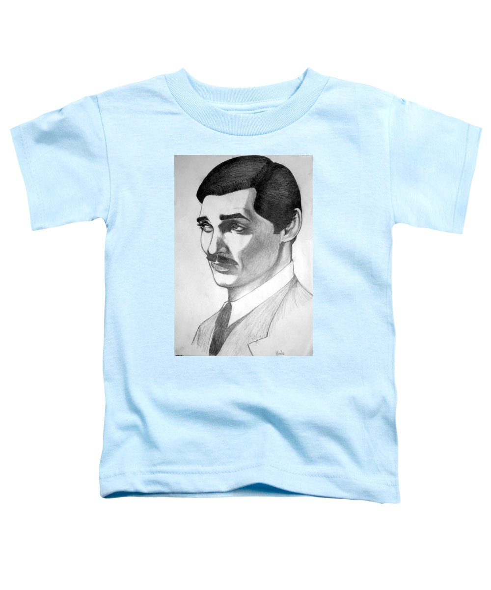 Portrait Toddler T-Shirt featuring the drawing Long Live The King by Marco Morales