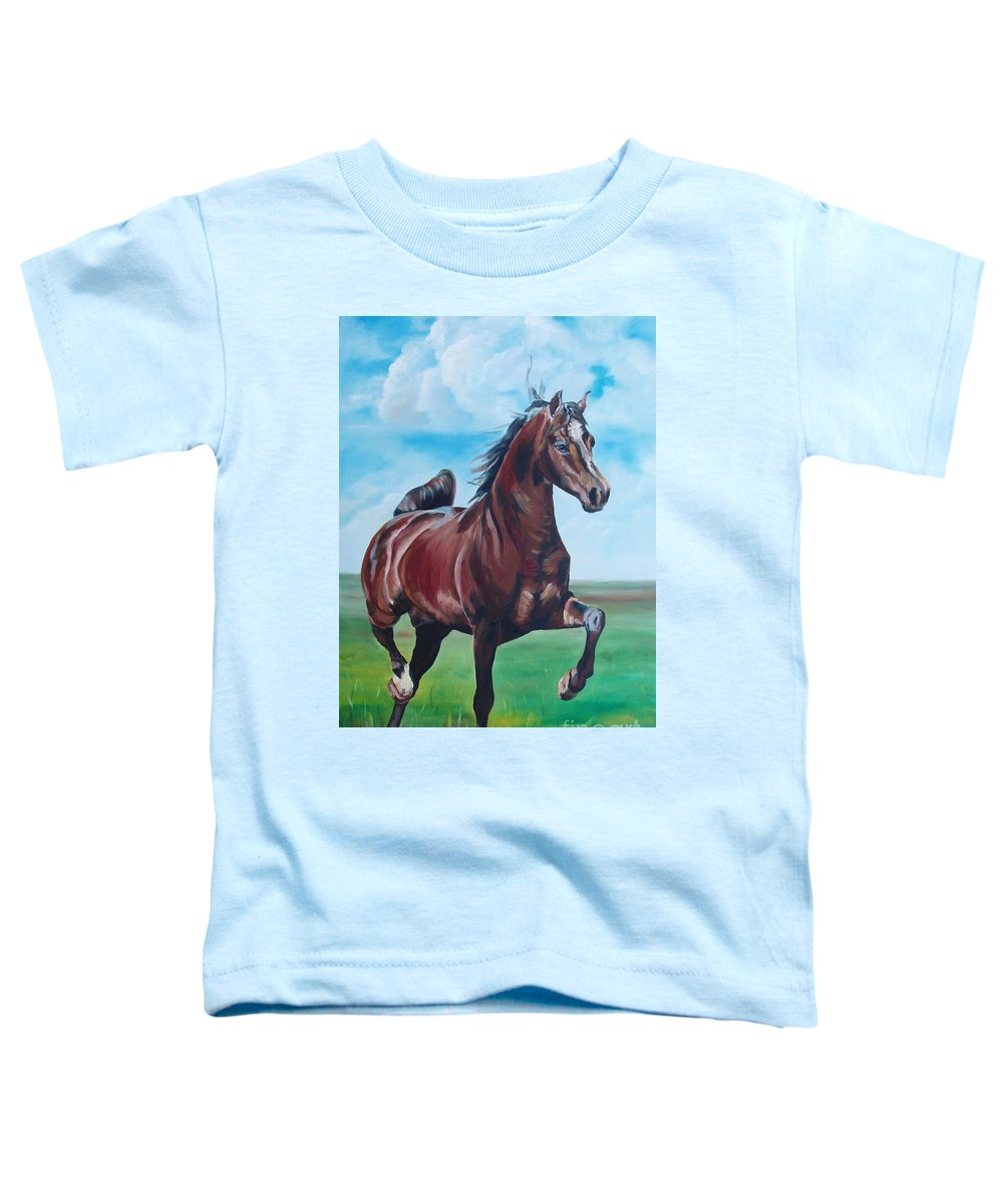 Horse Toddler T-Shirt featuring the painting Lovely by Gina De Gorna