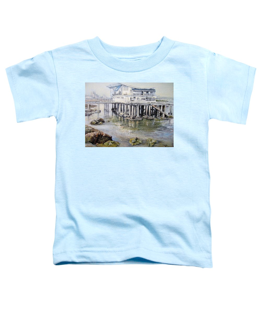Maritim Toddler T-Shirt featuring the painting Maritim Club Castro Urdiales by Tomas Castano