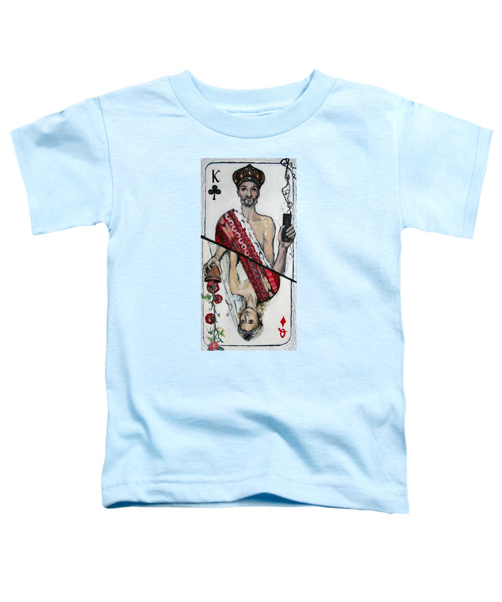 Marriage Toddler T-Shirt featuring the painting Marriage by Mima Stajkovic
