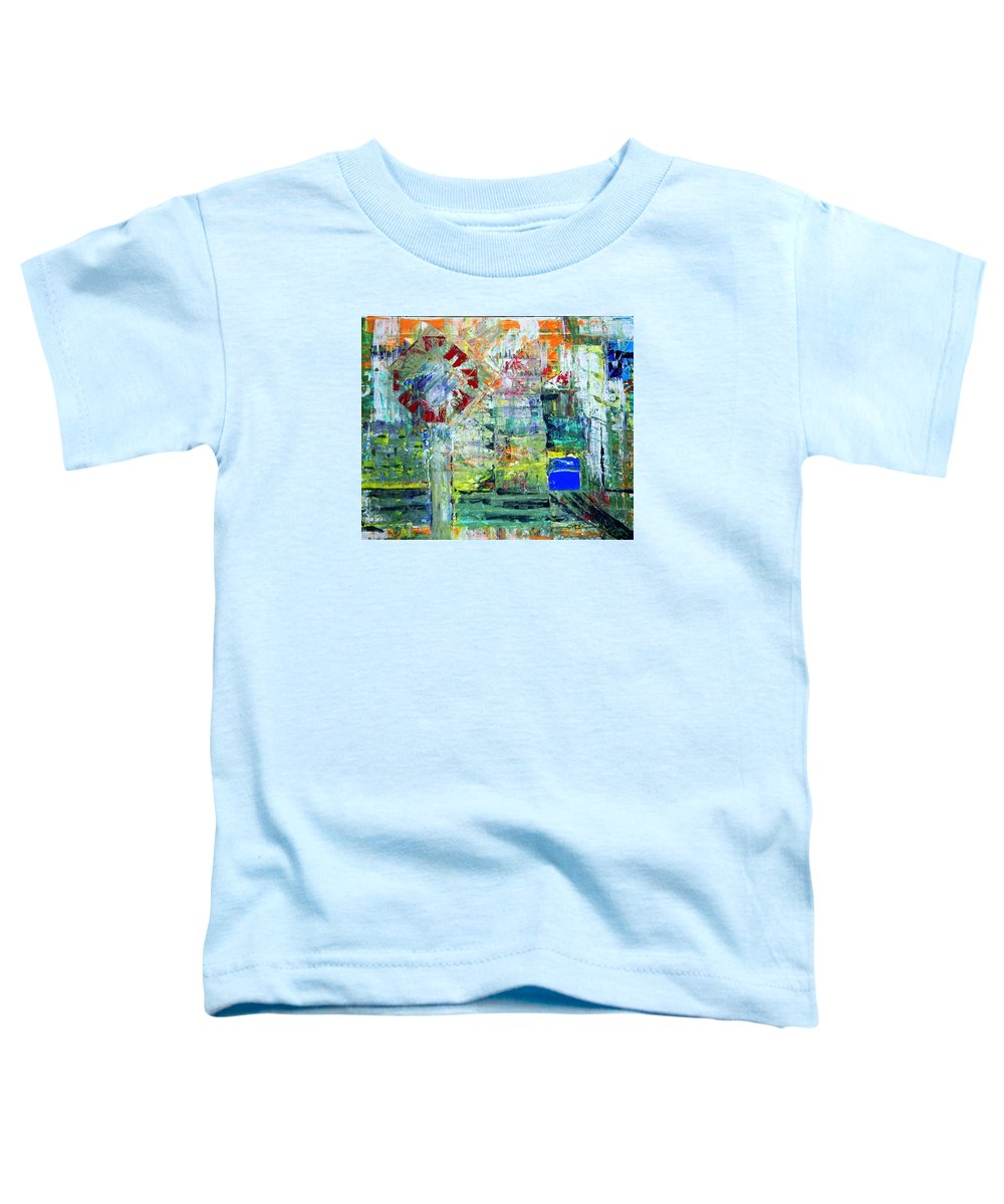 Abstract Toddler T-Shirt featuring the painting Milton Place by J R Seymour