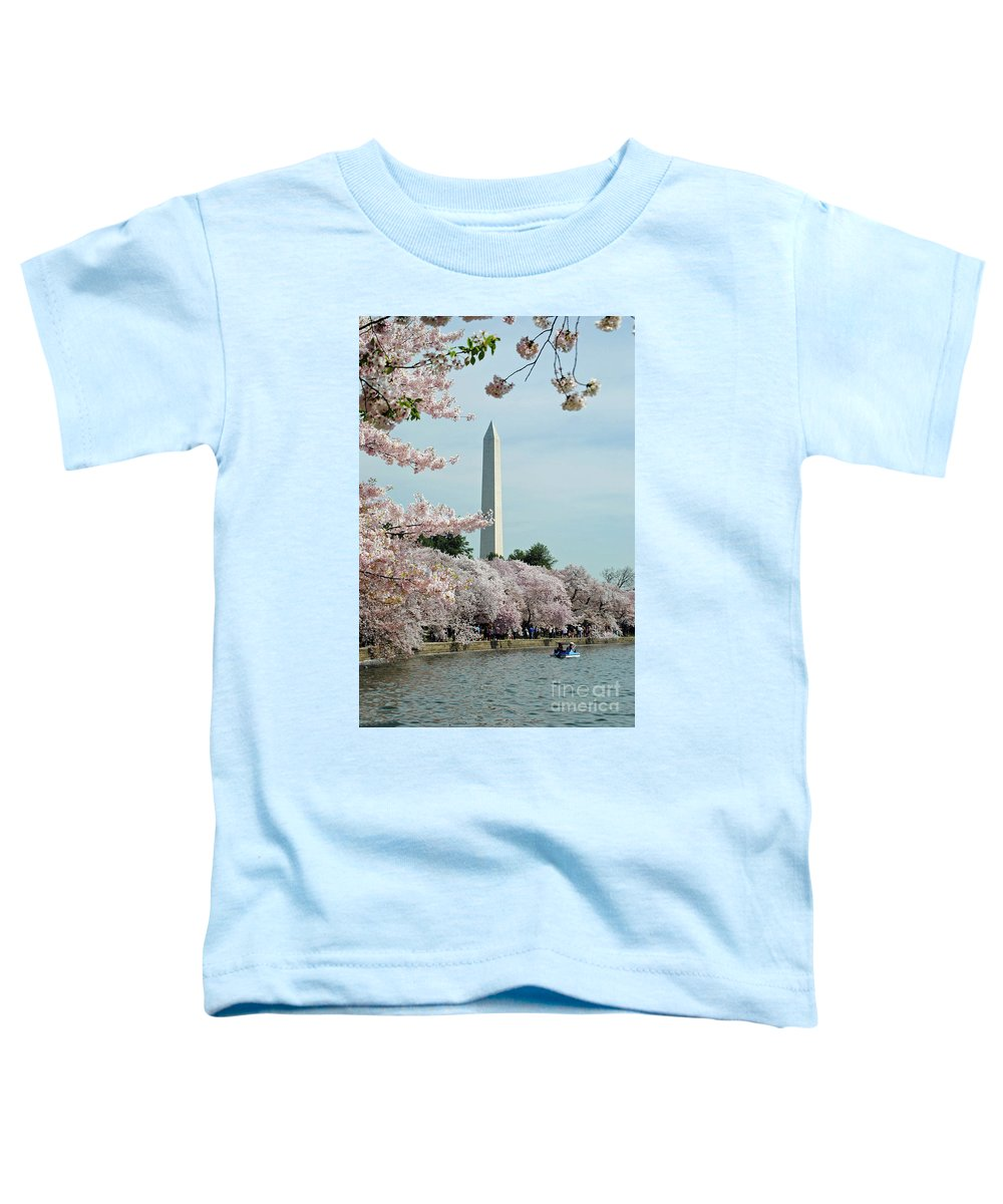 Cherry Toddler T-Shirt featuring the photograph Monumental Cherry Blossoms by Jost Houk