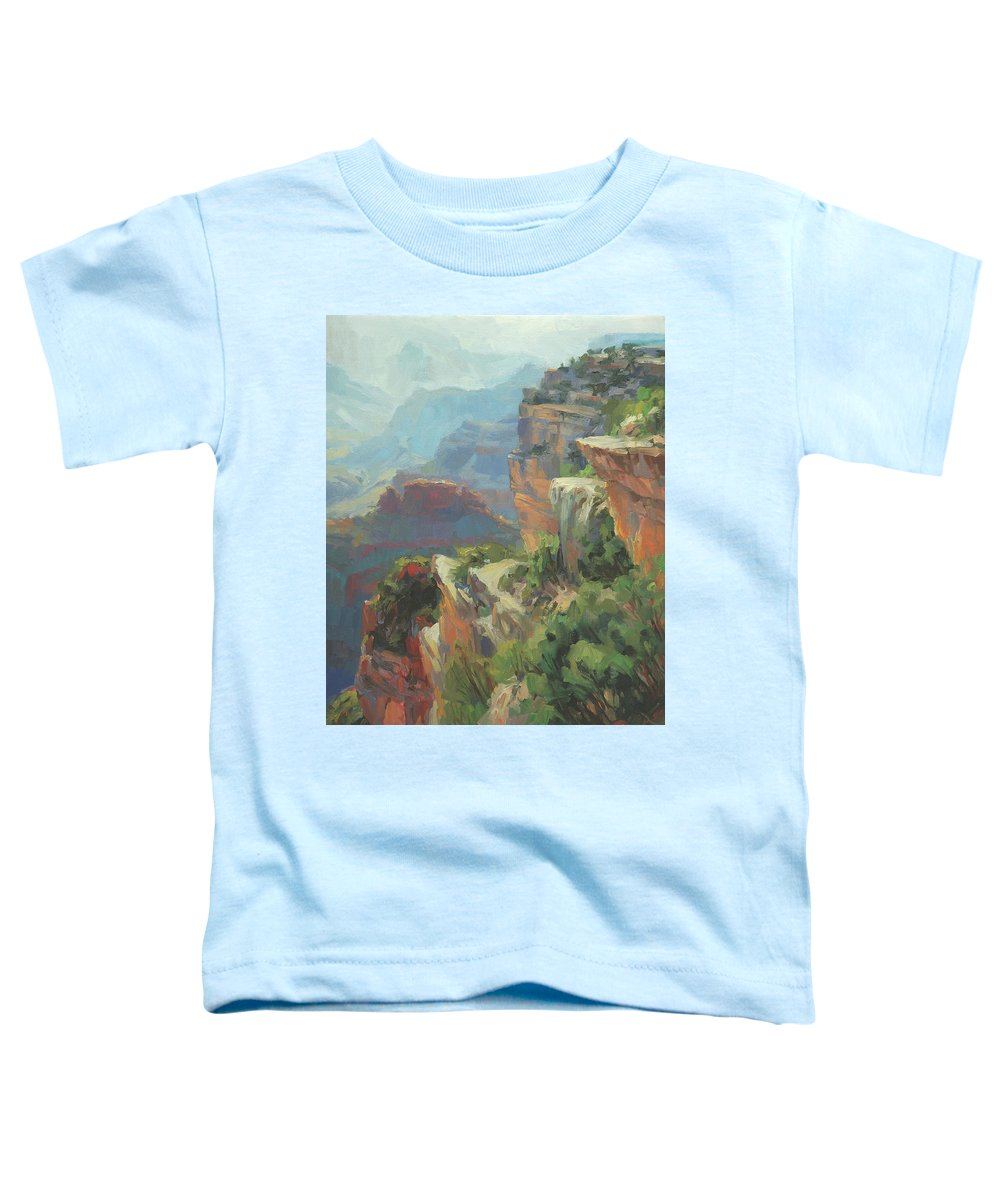 Southwest Toddler T-Shirt featuring the painting Morning At Hopi Point by Steve Henderson