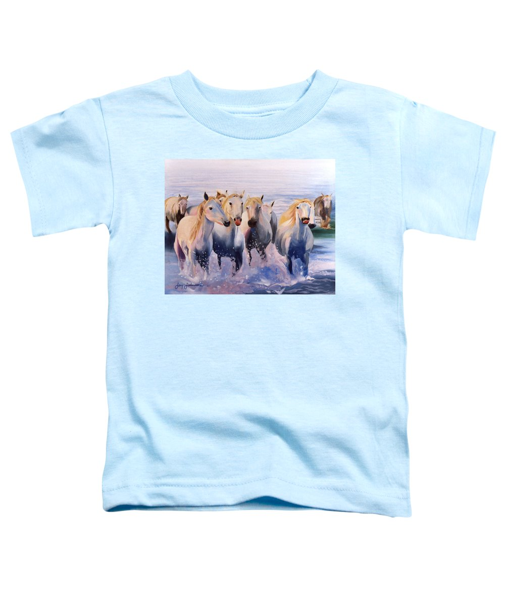 Toddler T-Shirt featuring the painting Morning Run by Jay Johnson