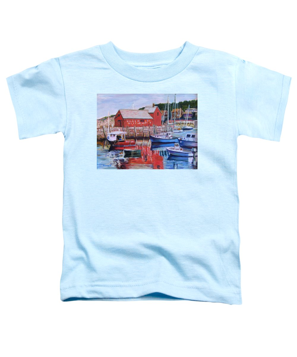Rockport Toddler T-Shirt featuring the painting Motif Number One by Richard Nowak