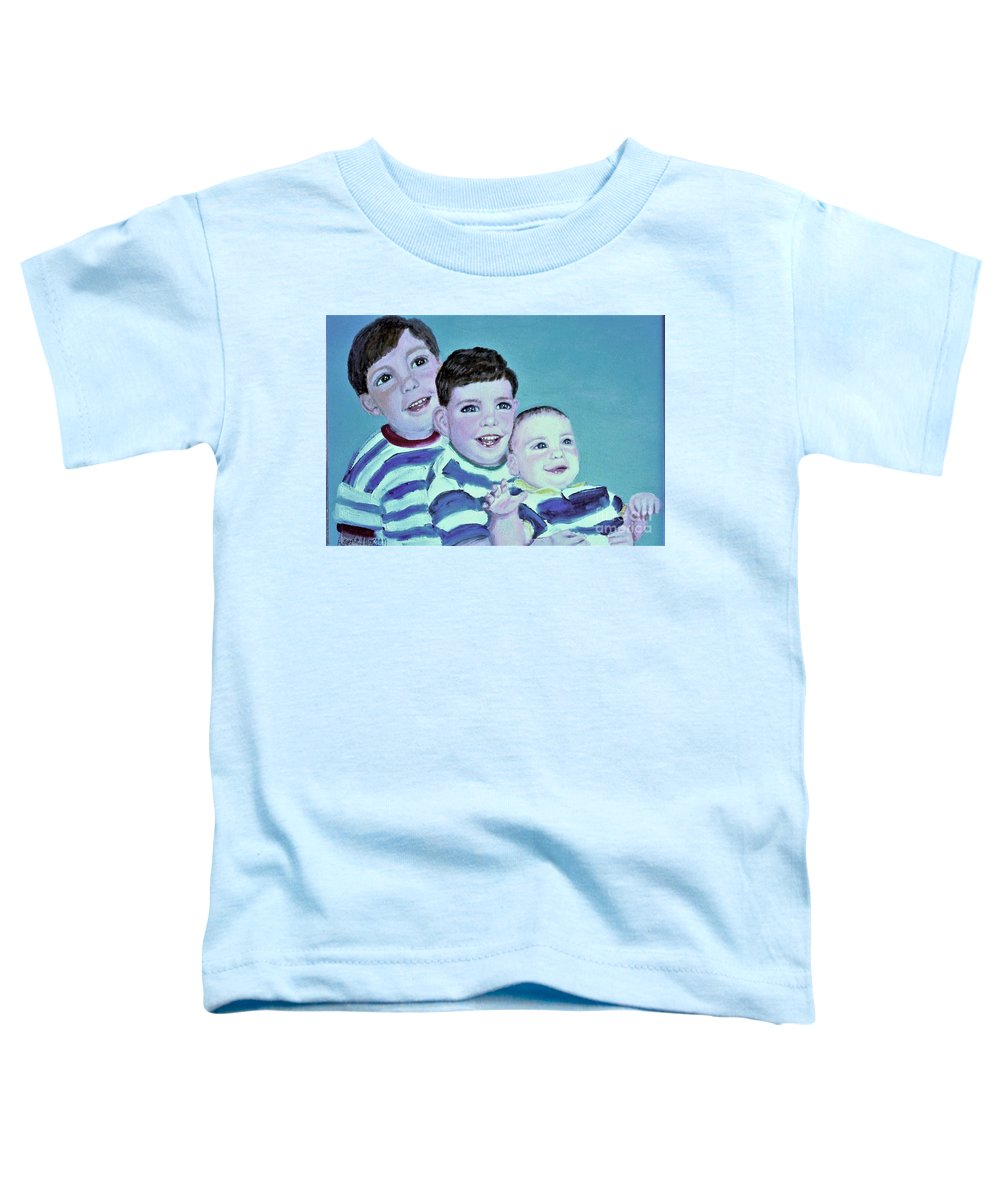 Children Toddler T-Shirt featuring the painting My Three Sons by Laurie Morgan
