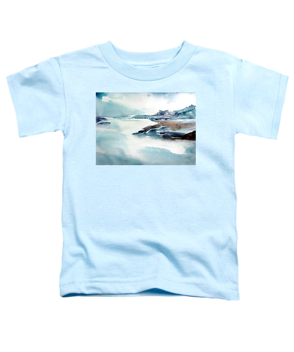 River Toddler T-Shirt featuring the painting Mystic River by Anil Nene