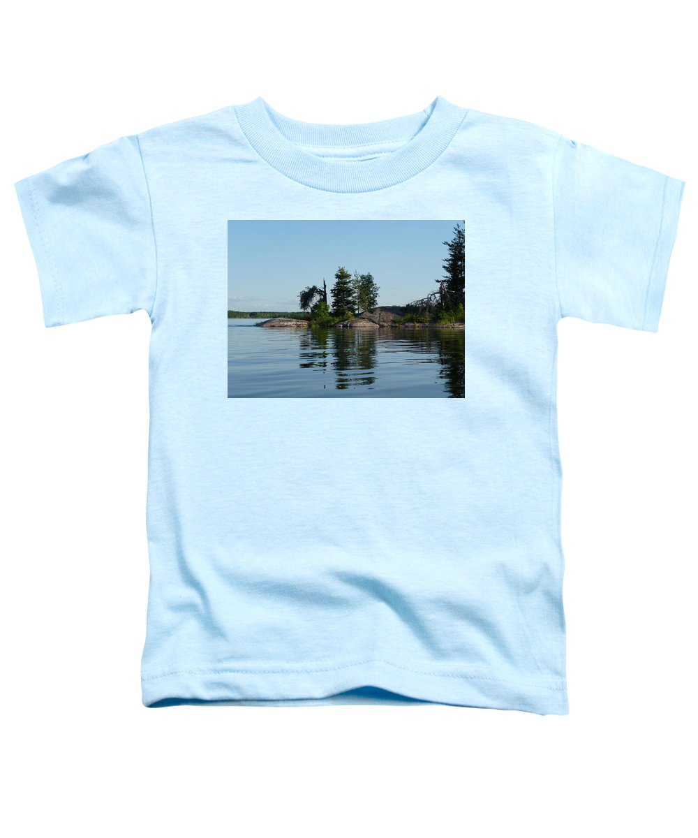 Lake Toddler T-Shirt featuring the photograph Natural Breakwater by Ruth Kamenev