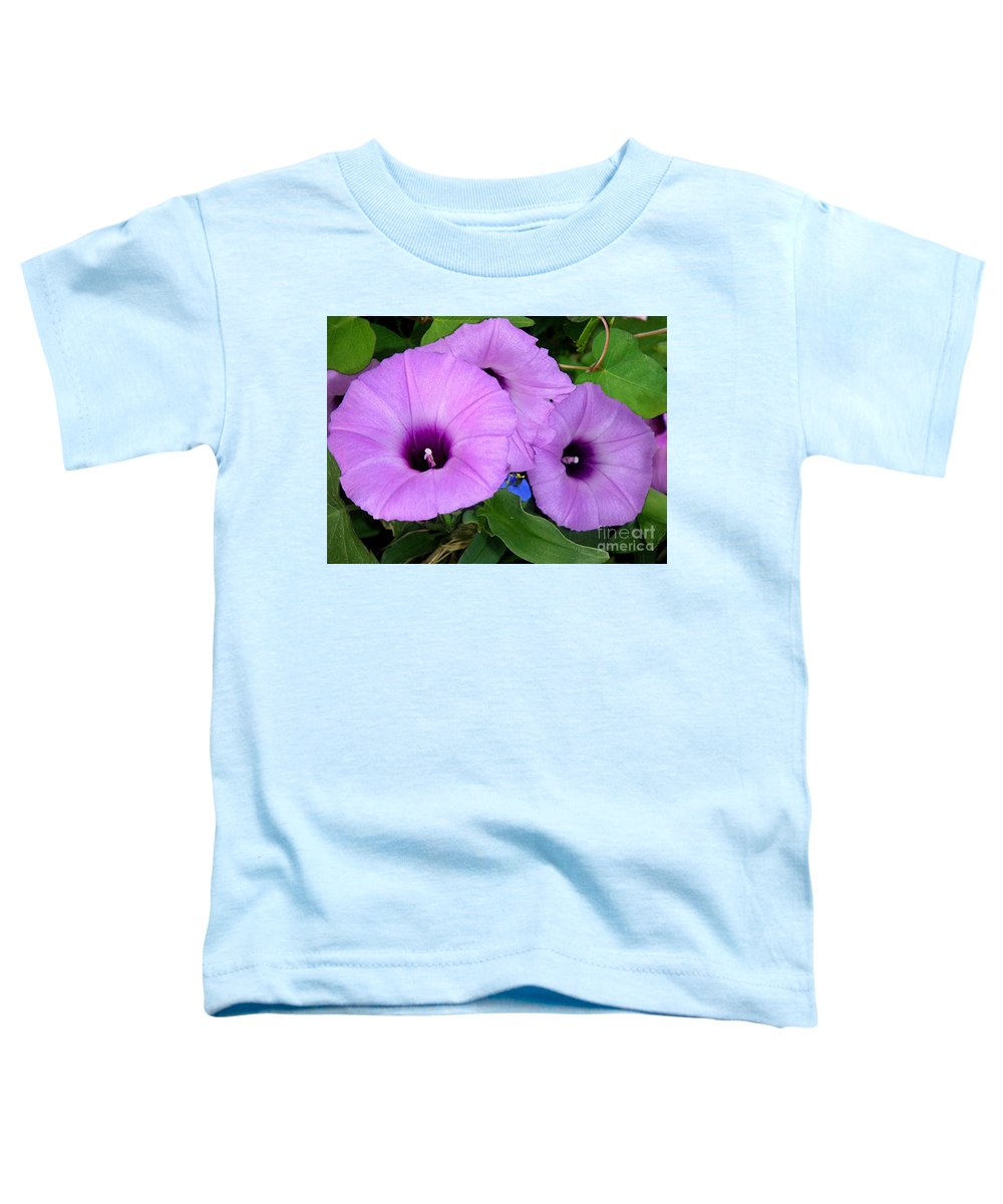 Nature Toddler T-Shirt featuring the photograph Nature In The Wild - Morning Bells by Lucyna A M Green