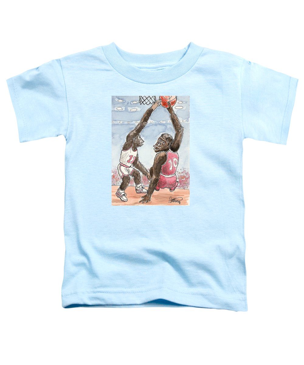 Basketbal Toddler T-Shirt featuring the painting No No No by George I Perez