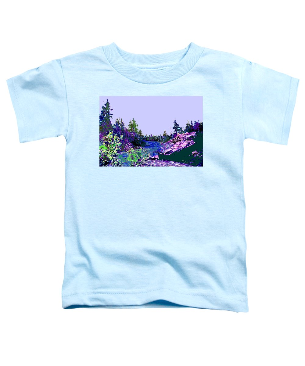 Norlthern Toddler T-Shirt featuring the photograph Northern Ontario River by Ian MacDonald