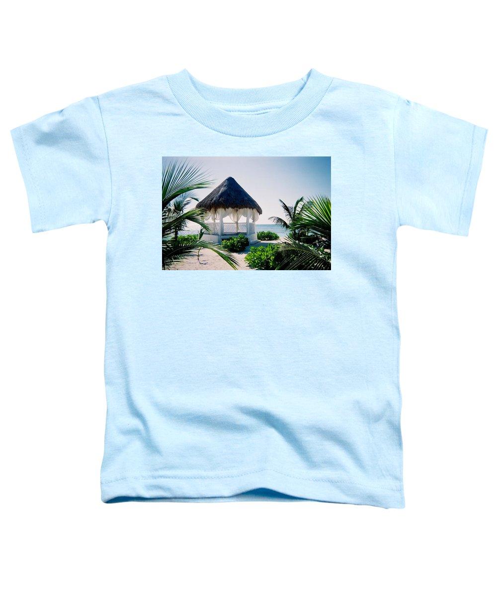 Resort Toddler T-Shirt featuring the photograph Ocean Gazebo by Anita Burgermeister