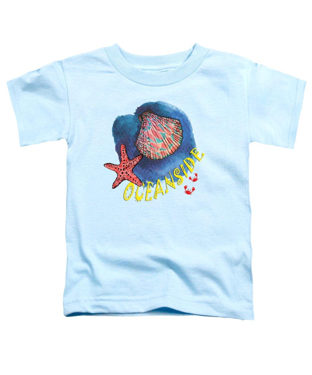 Seaside Toddler T-Shirt featuring the digital art Oceanside by Gaspar Avila