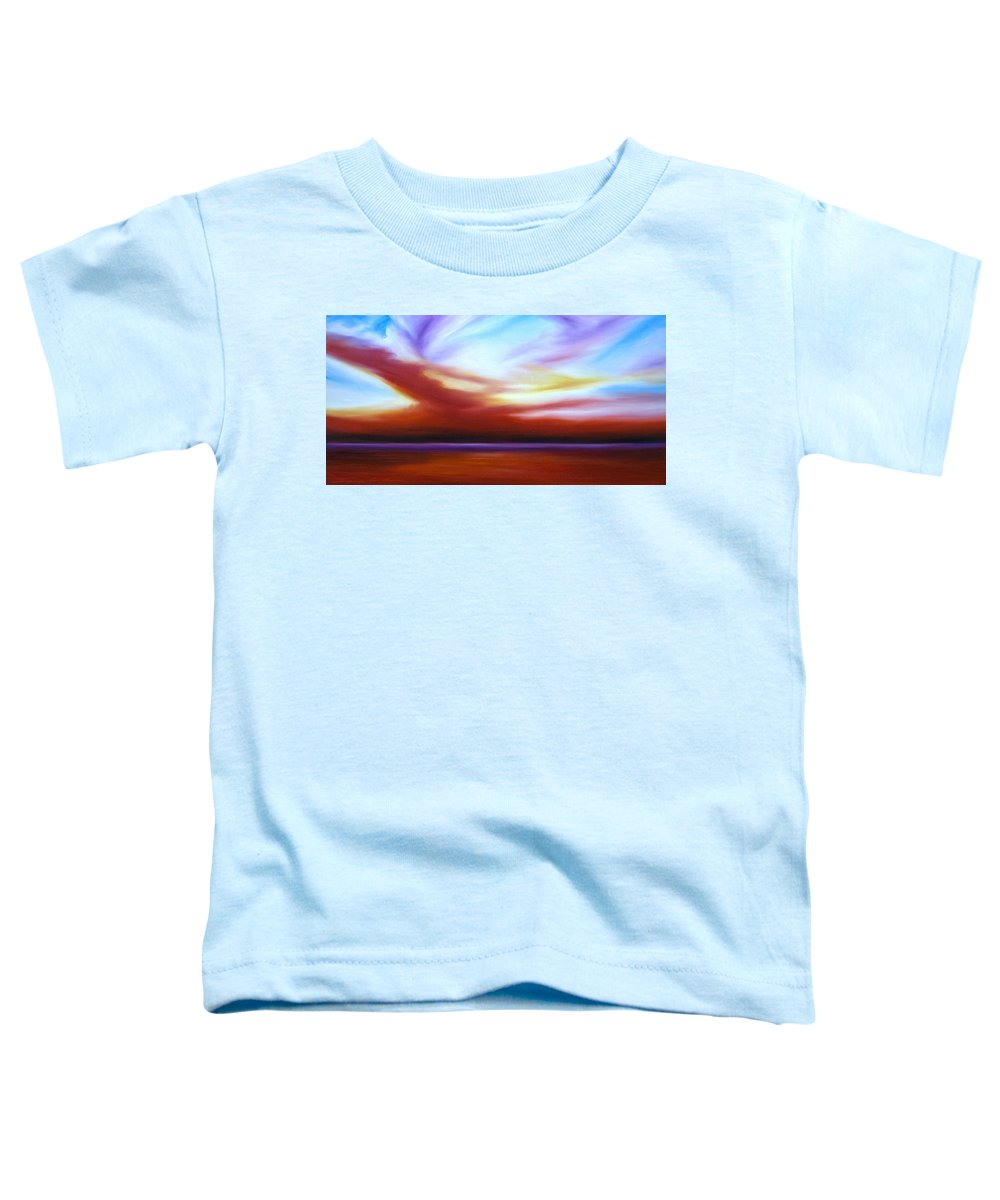 Skyscape Toddler T-Shirt featuring the painting October Sky IIi by James Christopher Hill