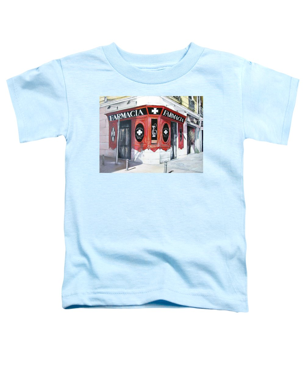 Pharmacy Toddler T-Shirt featuring the painting Old Pharmacy by Tomas Castano