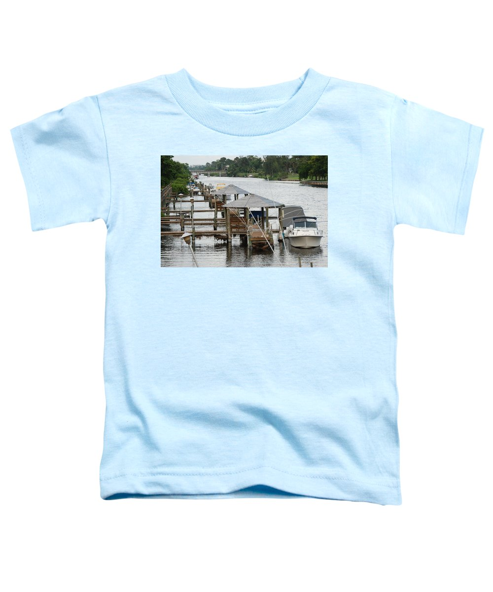 Boats Toddler T-Shirt featuring the photograph On The Hillsboro Canal by Rob Hans