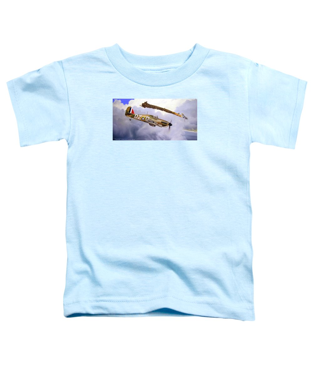 Aviation Art Toddler T-Shirt featuring the painting One Of The Few by Marc Stewart