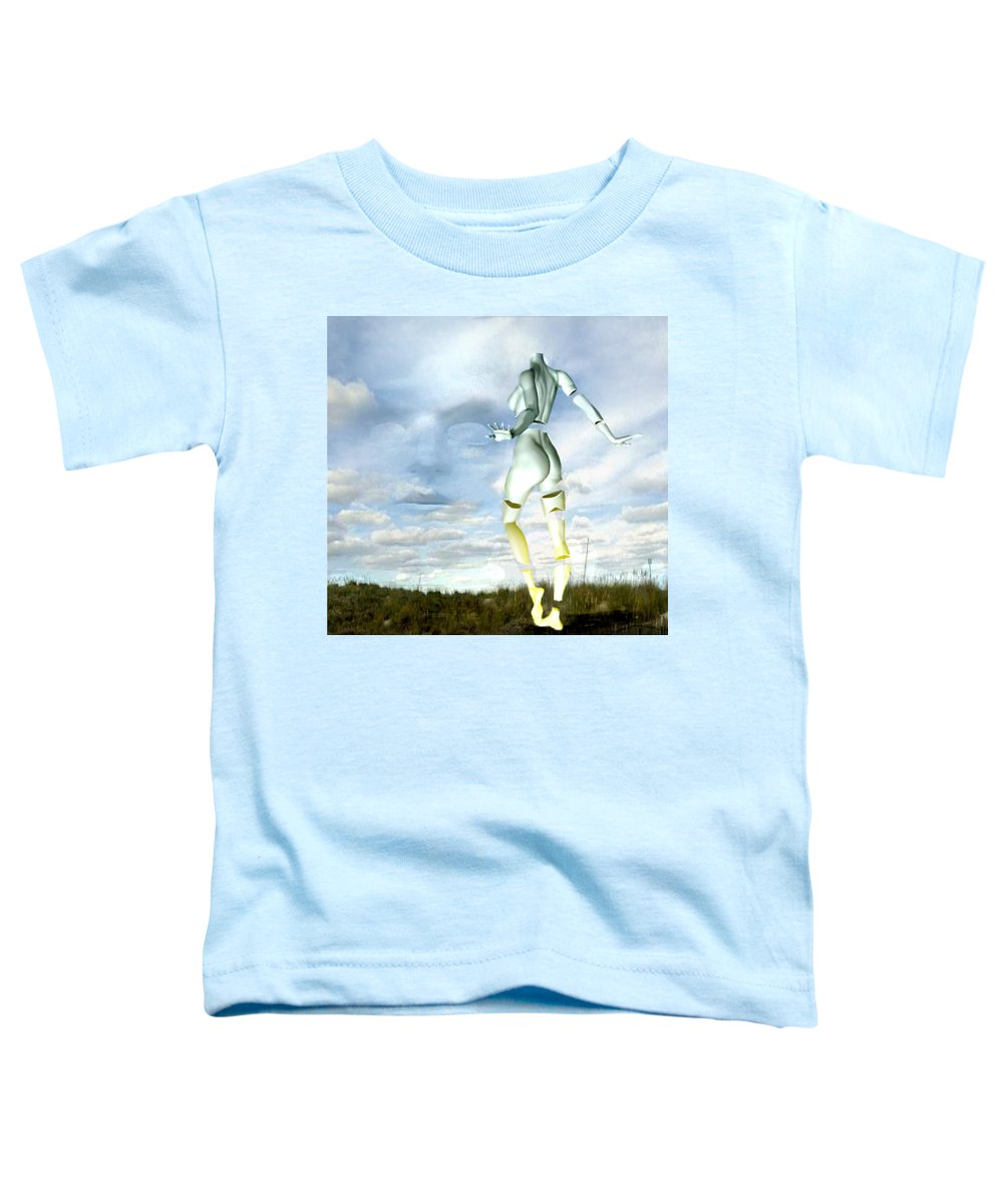 Sky Naked Woman Surreal Dance Toddler T-Shirt featuring the digital art Out Of My Mind... by Veronica Jackson