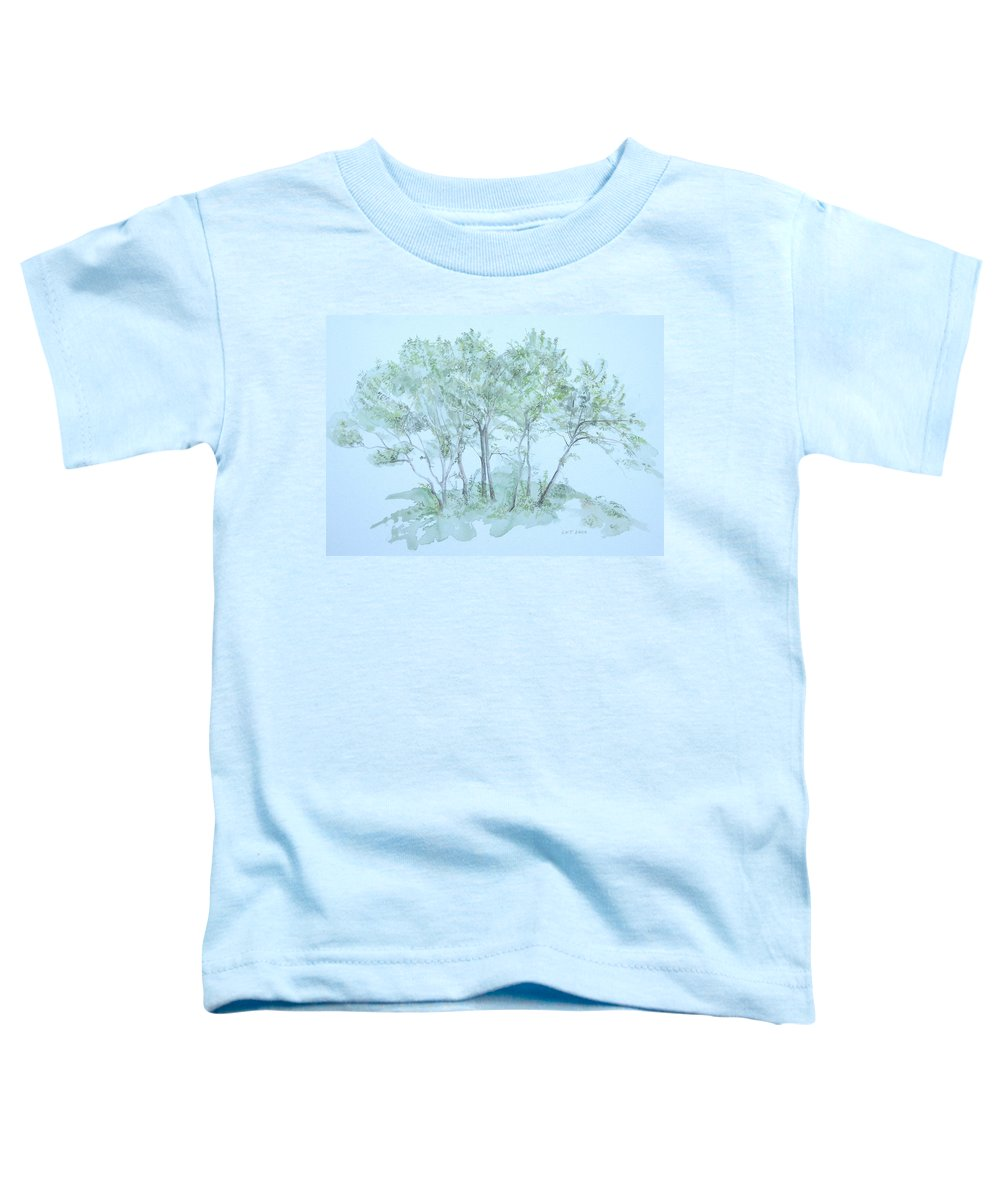 Trees Toddler T-Shirt featuring the painting Outer Banks by Leah Tomaino
