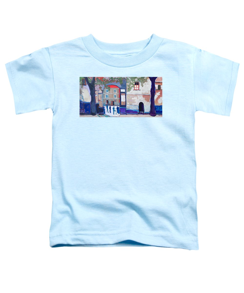 Village Toddler T-Shirt featuring the painting Palazzo Di Villafranca by Kurt Hausmann