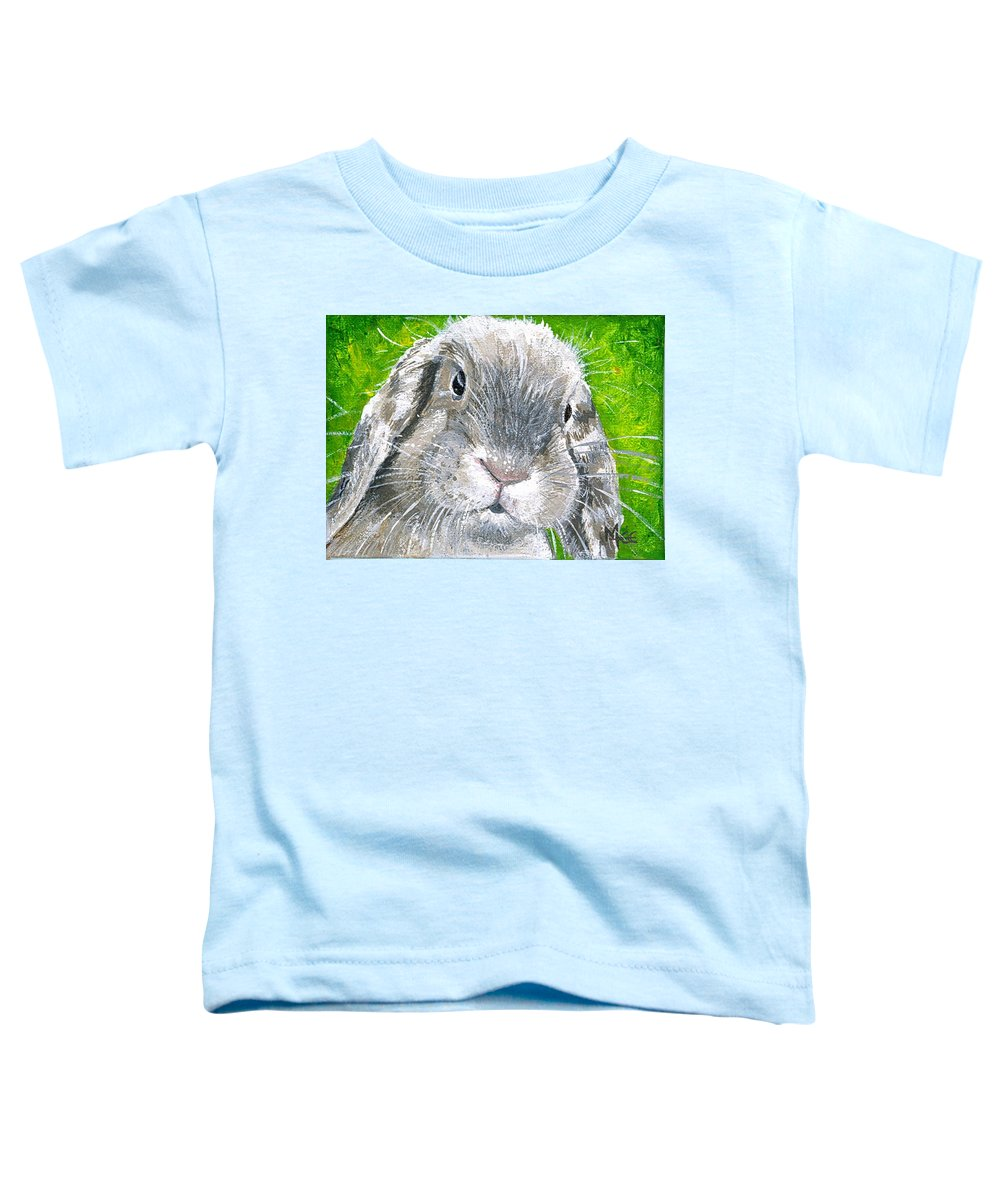 Charity Toddler T-Shirt featuring the painting Parsnip by Mary-Lee Sanders