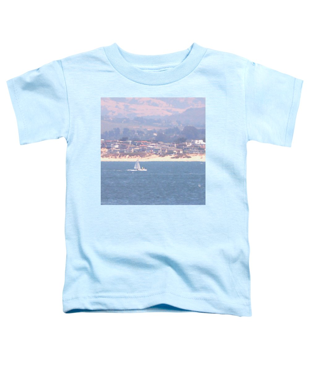 Sailing Toddler T-Shirt featuring the photograph Pastel Sail by Pharris Art