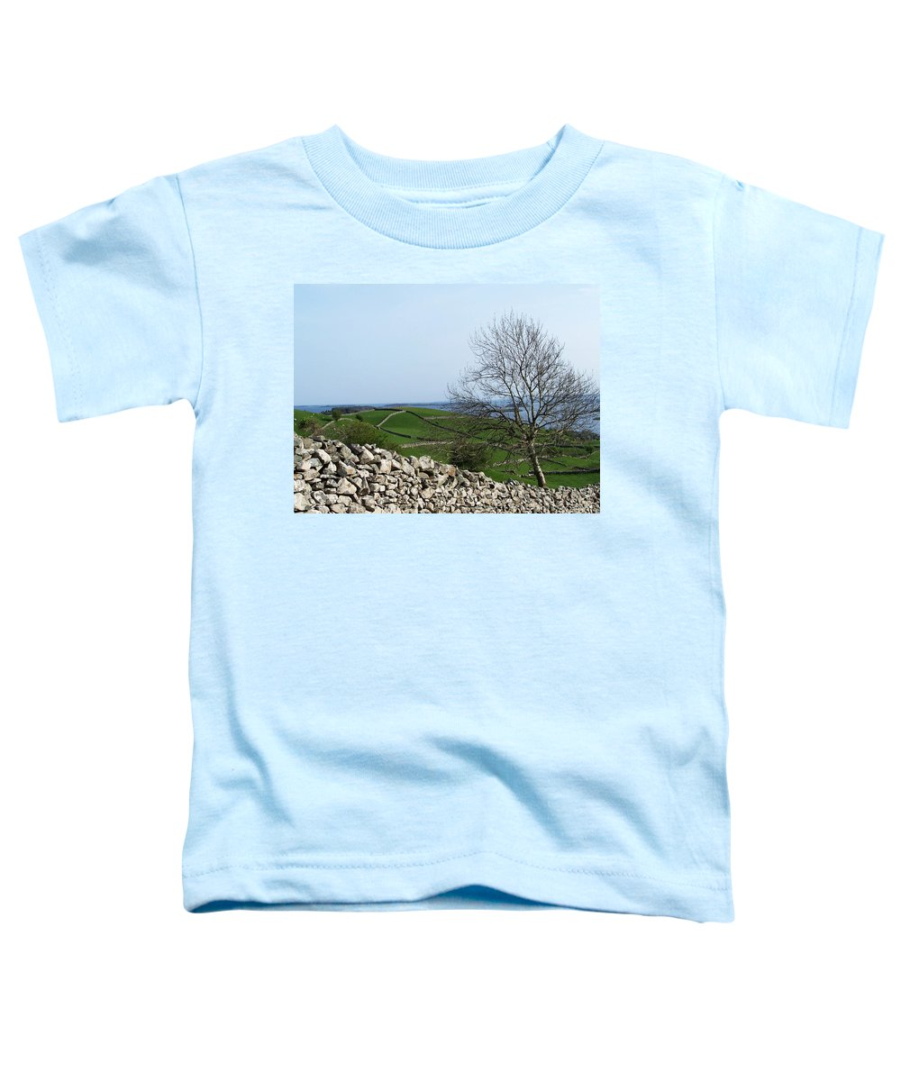 Irish Toddler T-Shirt featuring the photograph Patchwork Quilt Lough Corrib Maam Ireland by Teresa Mucha
