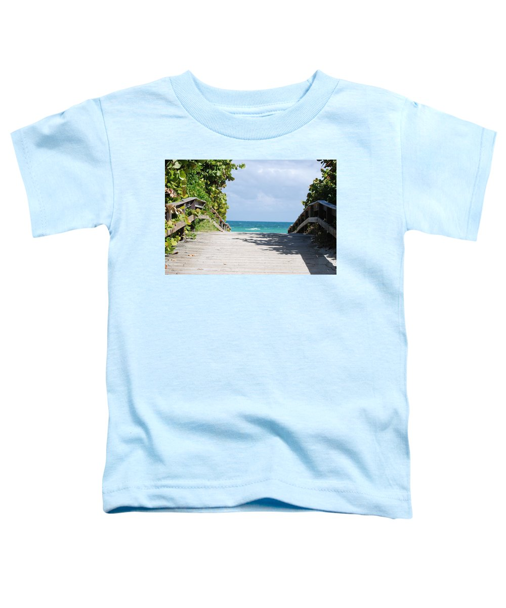 Sea Scape Toddler T-Shirt featuring the photograph Path To Paradise by Rob Hans