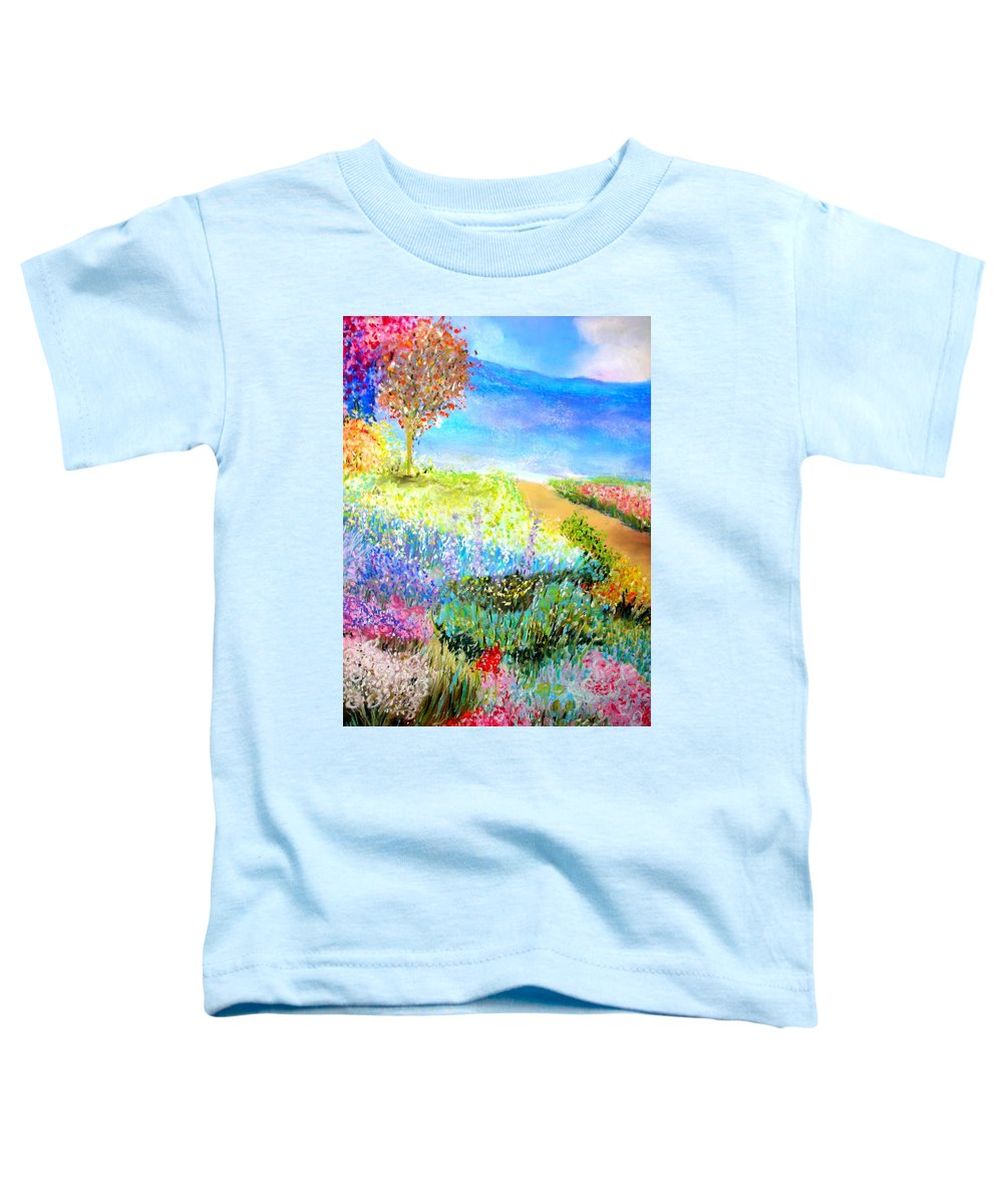 Landscape Toddler T-Shirt featuring the print Patricia's Pathway by Melinda Etzold