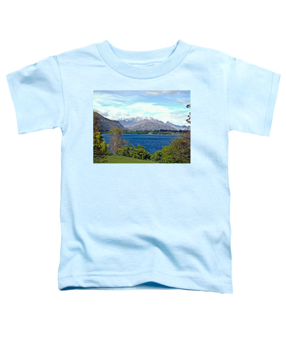 Lake Toddler T-Shirt featuring the photograph Peaceful Lake -- New Zealand by Douglas Barnett