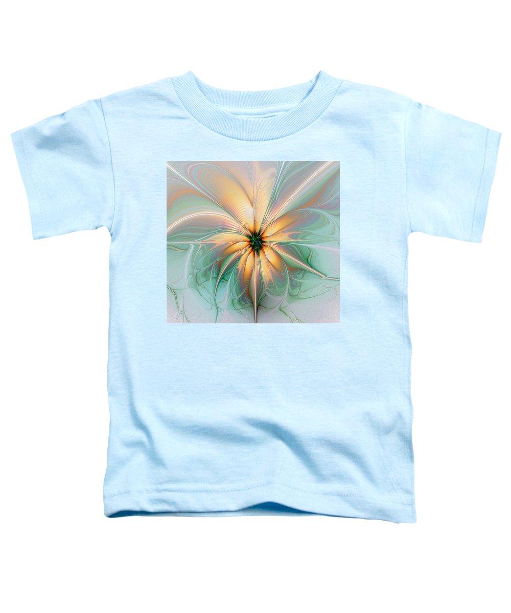 Digital Art Toddler T-Shirt featuring the digital art Peach Allure by Amanda Moore