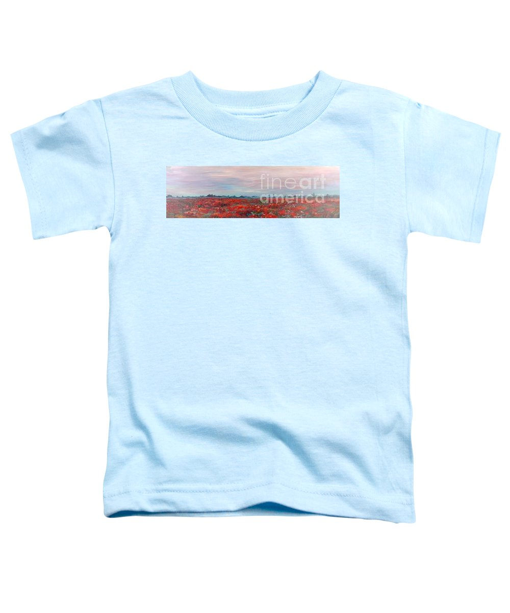 Poppies Toddler T-Shirt featuring the painting Provence Poppies by Nadine Rippelmeyer