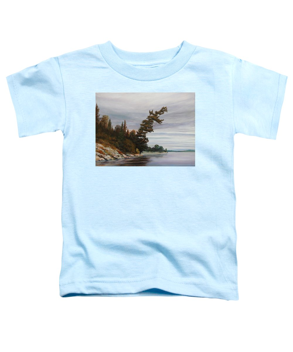 Landscape Toddler T-Shirt featuring the painting Ptarmigan Bay by Ruth Kamenev