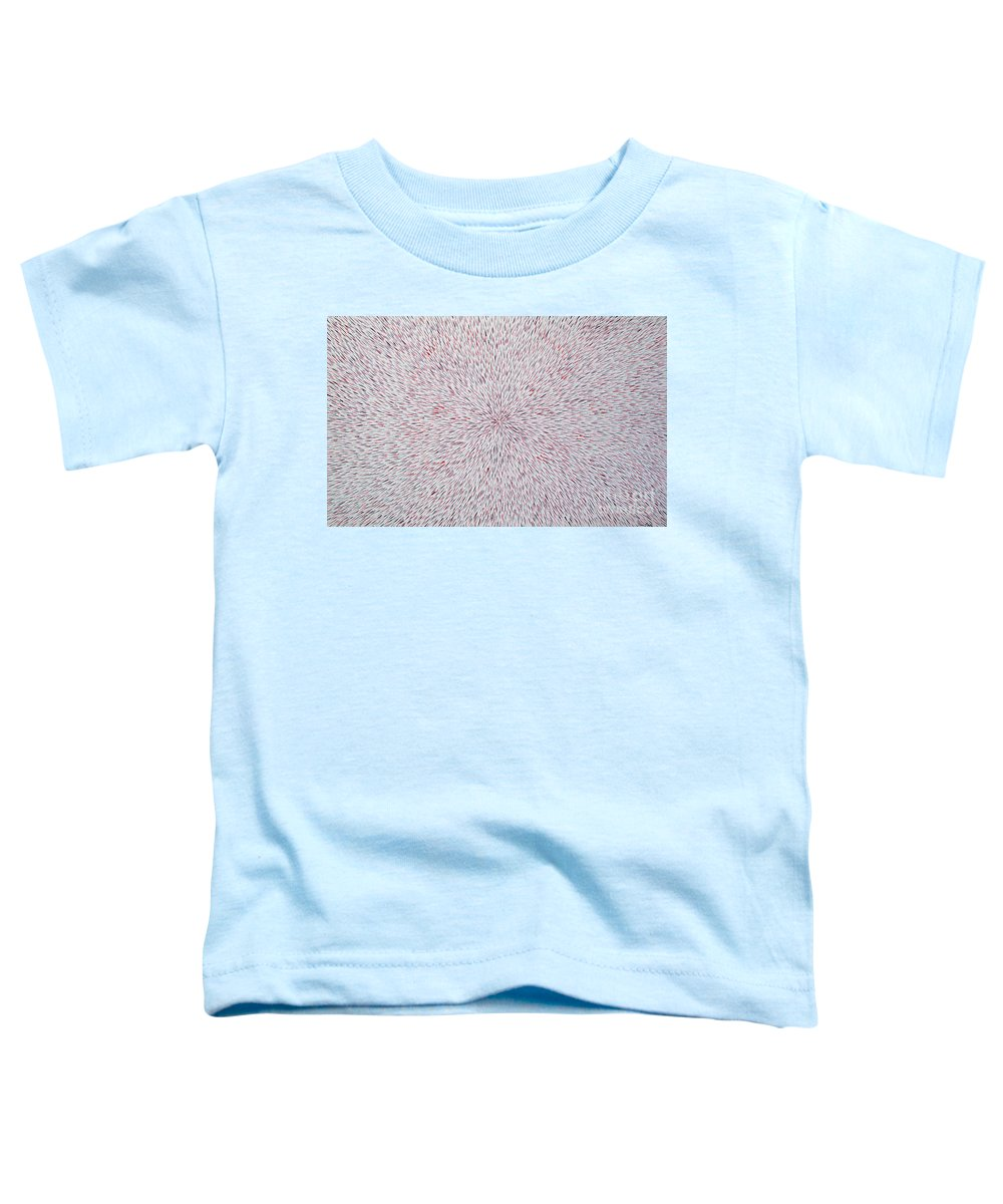Abstract Toddler T-Shirt featuring the painting Radiation With Black And Red by Dean Triolo