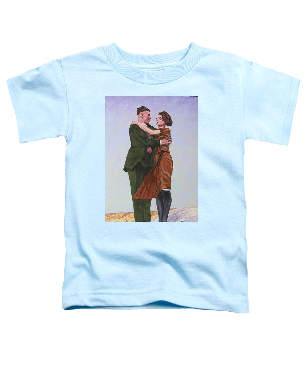 Double Portrait Toddler T-Shirt featuring the painting Ray And Isabel by Stan Hamilton
