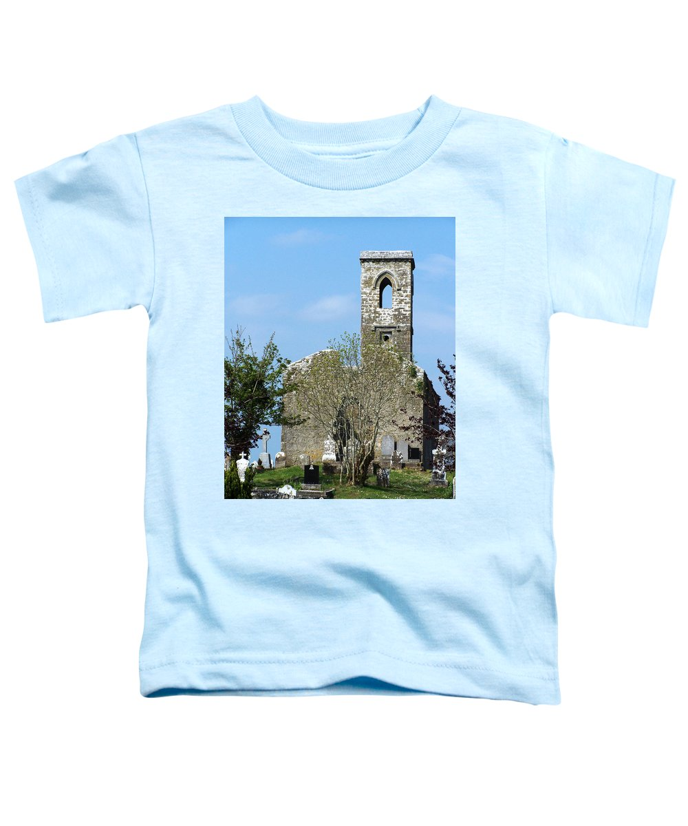 Fuerty Toddler T-Shirt featuring the photograph Rear View Fuerty Church And Cemetery Roscommon Ireland by Teresa Mucha