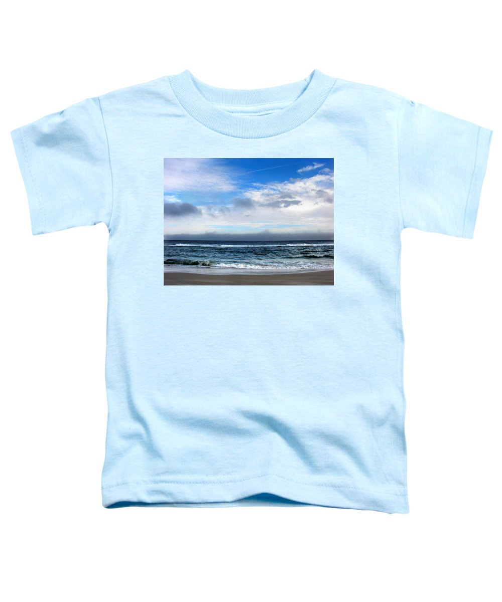 Seascape Toddler T-Shirt featuring the photograph Receding Fog Seascape by Steve Karol