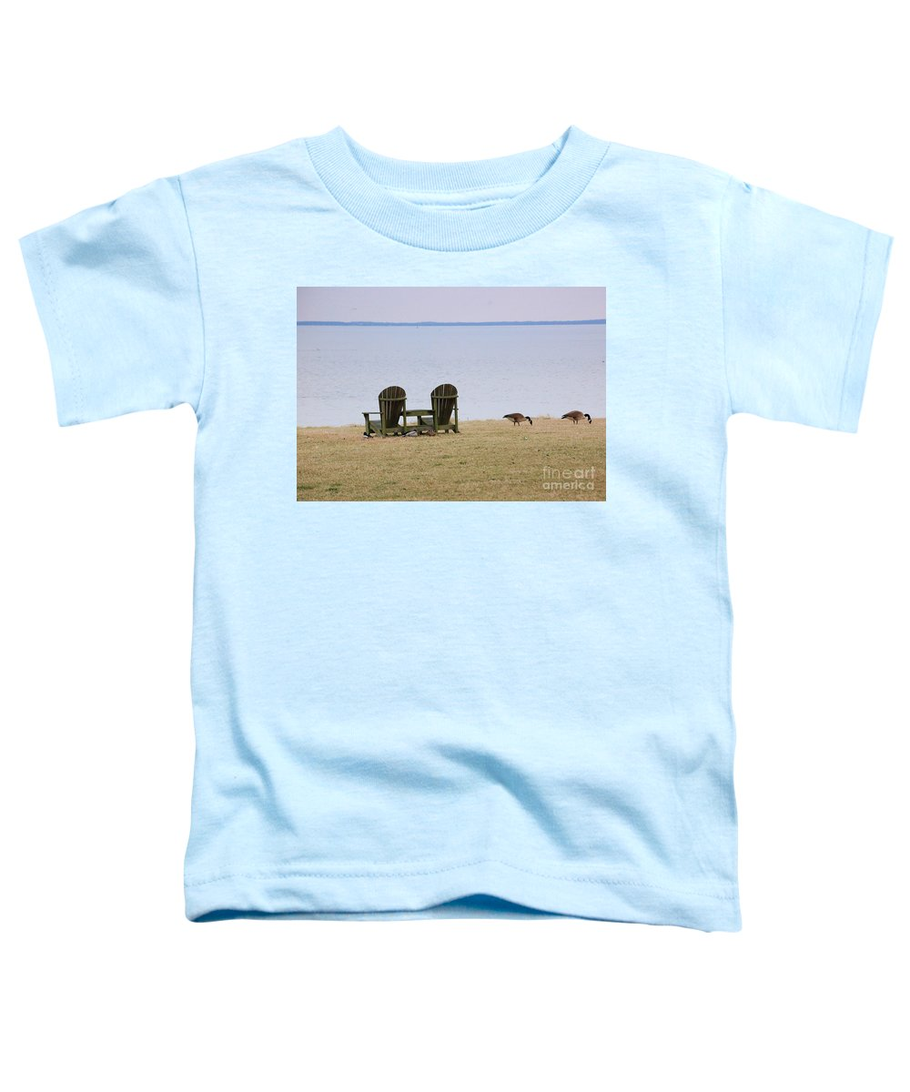 Chairs Toddler T-Shirt featuring the photograph Relax by Debbi Granruth