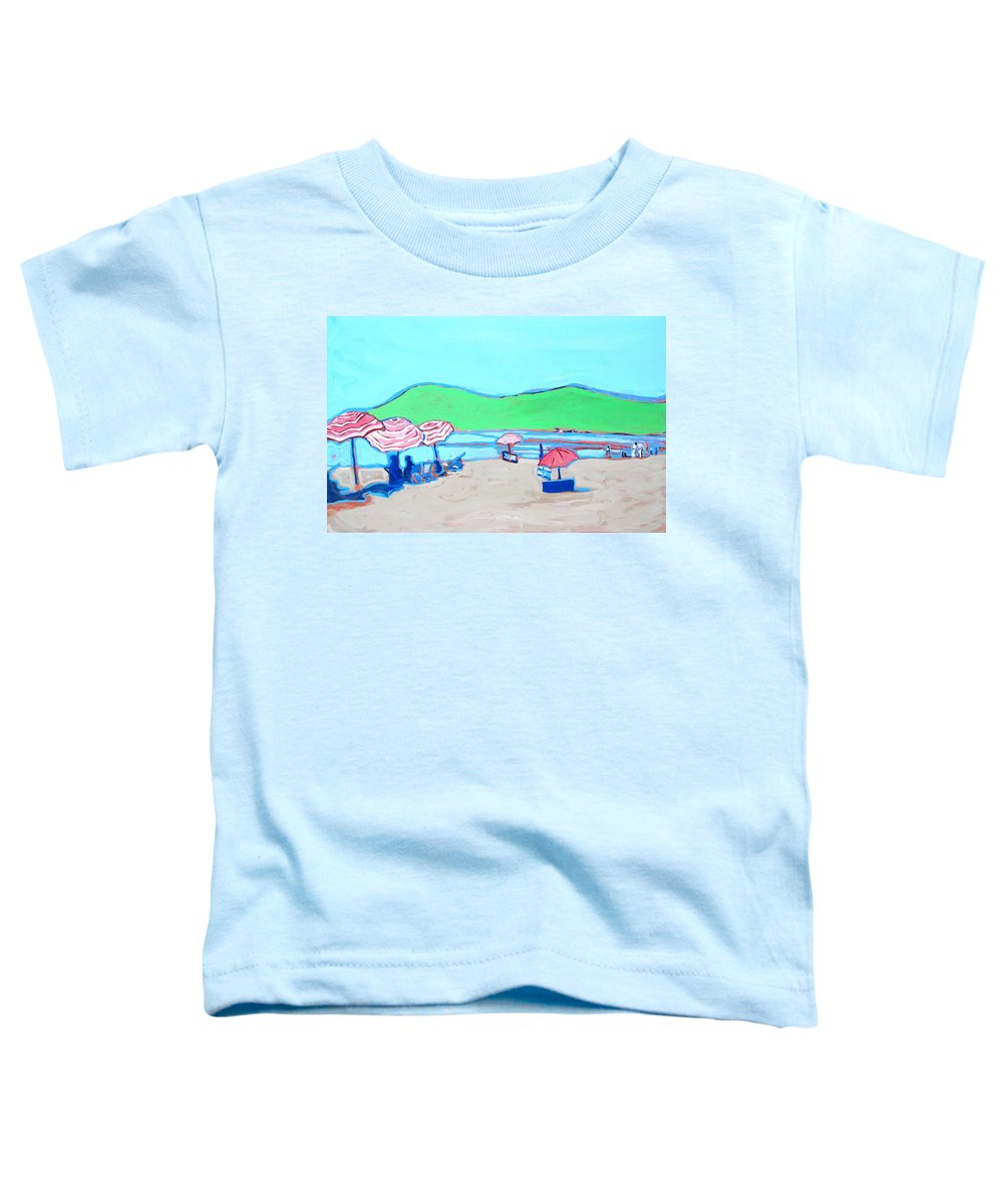 Seashore Toddler T-Shirt featuring the painting Riviera by Kurt Hausmann