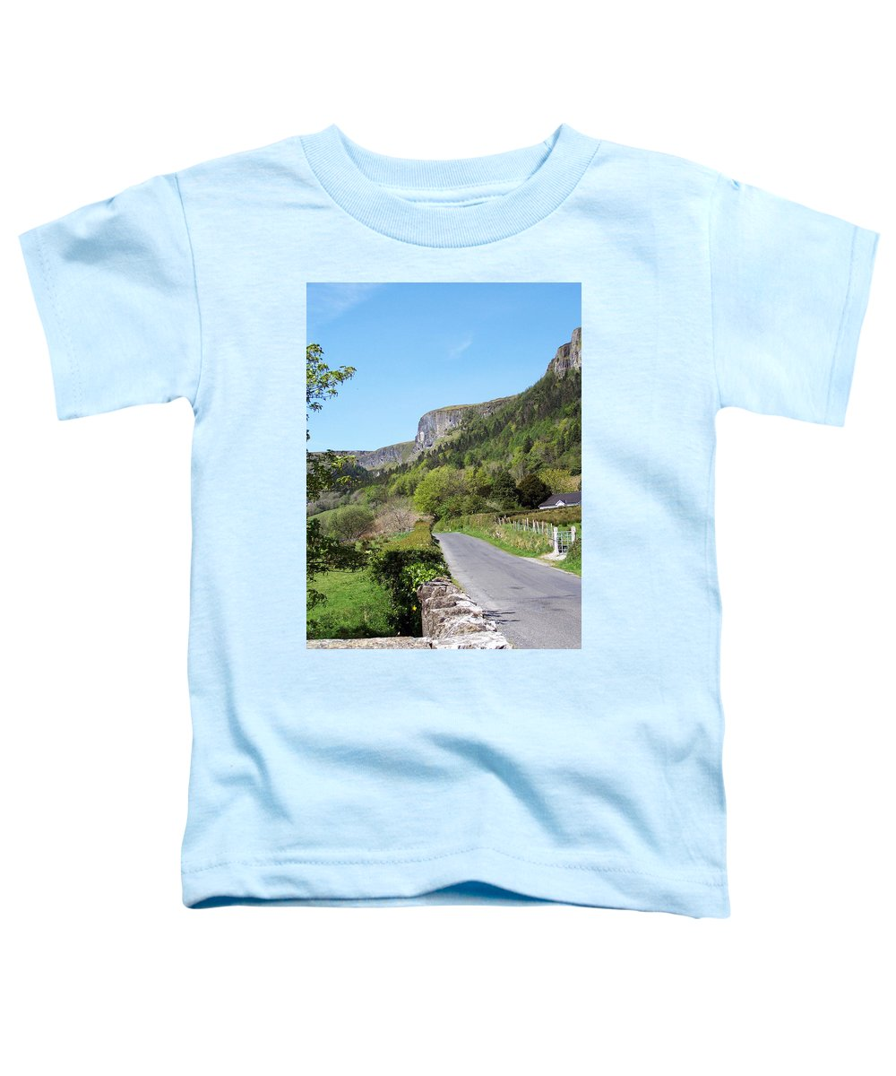 Irish Toddler T-Shirt featuring the photograph Road To Benbulben County Leitrim Ireland by Teresa Mucha