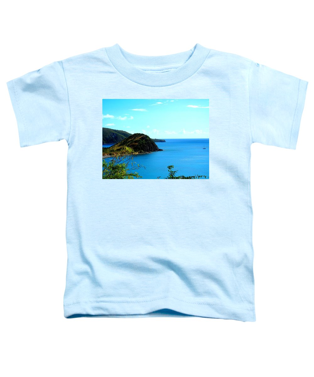 St Kitts Toddler T-Shirt featuring the photograph Safe Harbor by Ian MacDonald