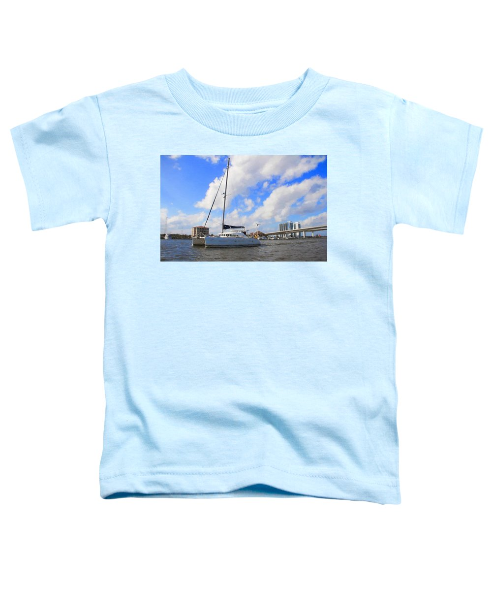 Alicegipsonphotographs Toddler T-Shirt featuring the photograph Sailing Past The Marina Grande by Alice Gipson