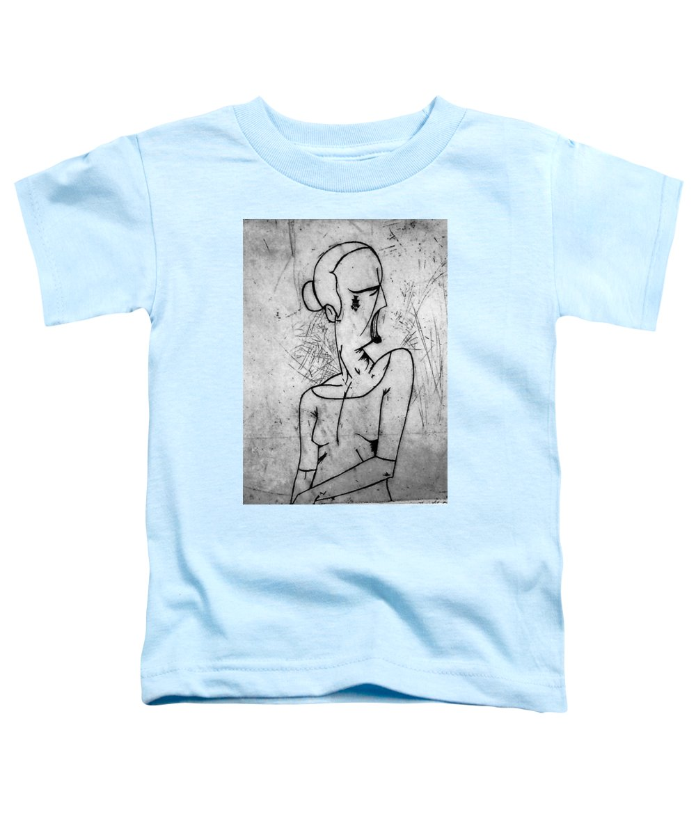 Misc Toddler T-Shirt featuring the print Screamer by Thomas Valentine