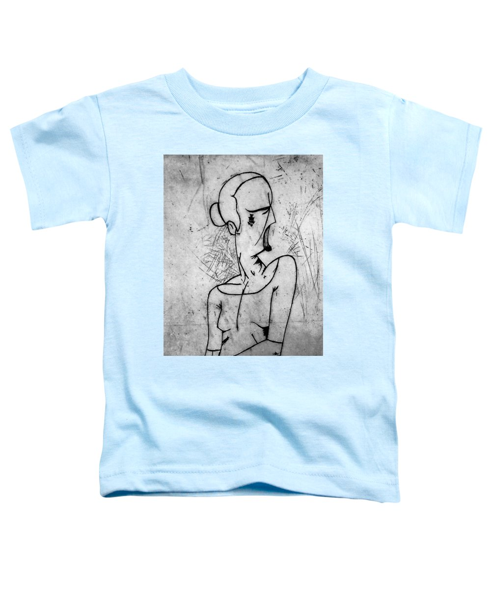 Misc Toddler T-Shirt featuring the relief Screamer by Thomas Valentine